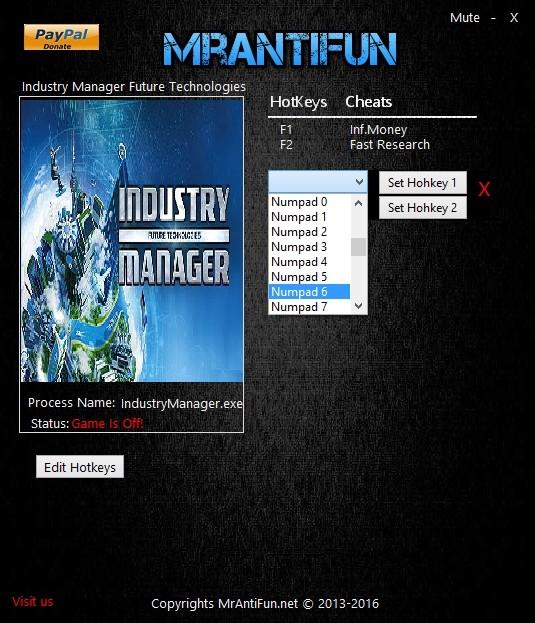 Industry Manager Future Technologies pc trainer MrAntiFun