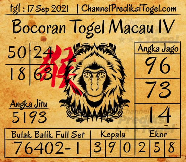 Bocoran Togel Toto Macau IV