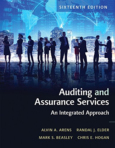 Auditing and Assurance Services (16th Edition) by Alvin A. Arens and Randal J. Elder