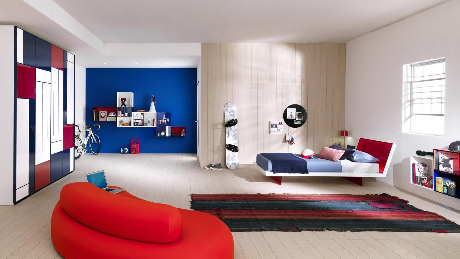 Dormitorios para adolescentes color azul ideas para for Como decorar un dormitorio grande