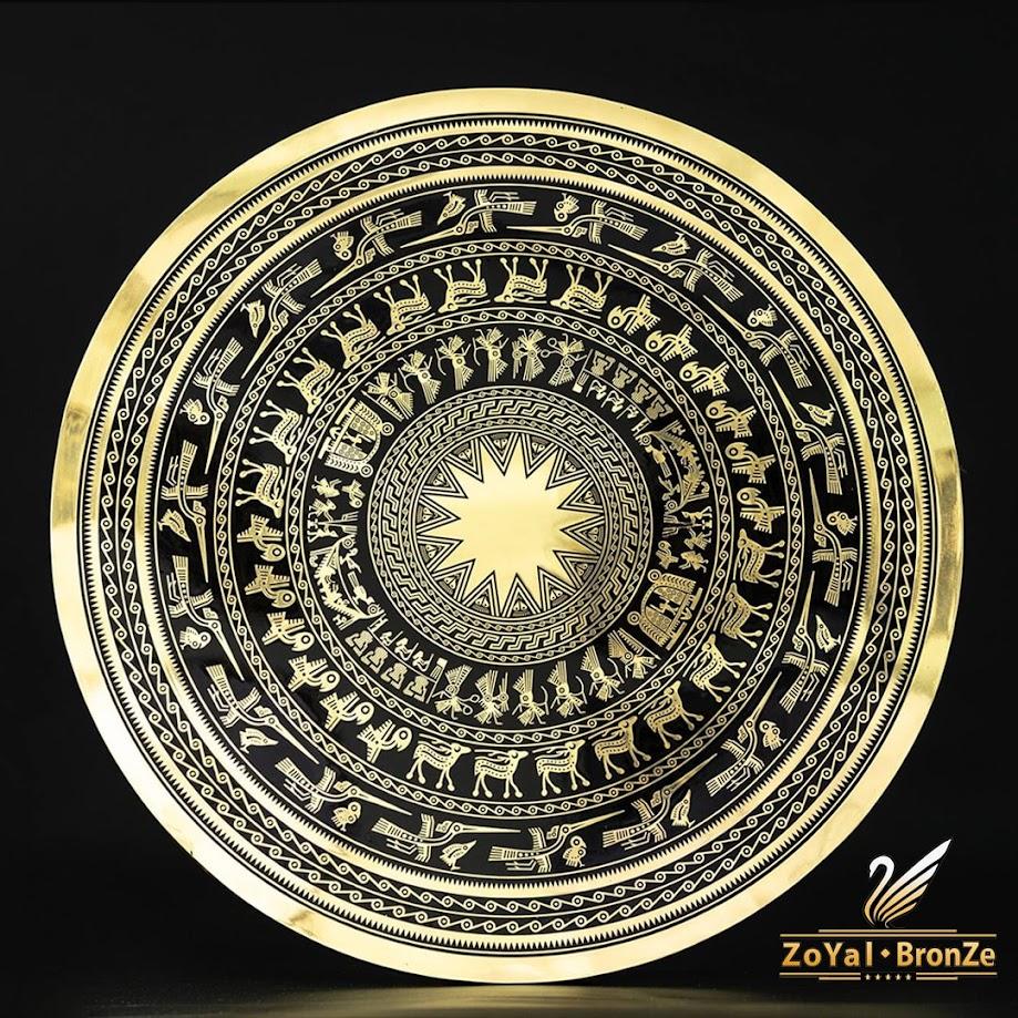 [A117] Mặt trống đồng chạm tay: Quà tặng thủ công mỹ nghệ cao cấp
