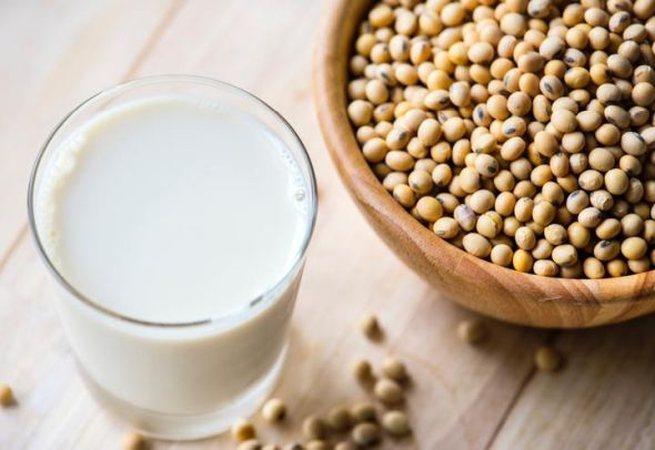 Is soy milk more healthier than almond milk? Pic of soy milk