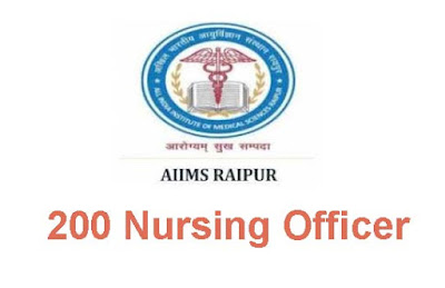 AIIMS Raipur Staff Nurse recruitment 2019- Apply Online, Check details