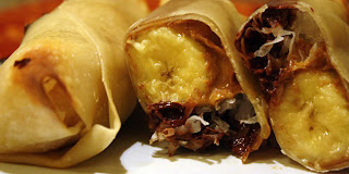 Choco Melt Banana Egg Roll