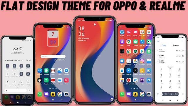 Chủ đề thiết kế phẳng cho Oppo và Realme || Chủ đề Oppo || Chủ đề Realme ||