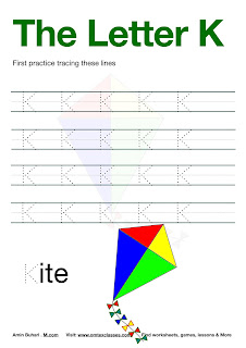 Practice Tracing The Letter K Free Download.