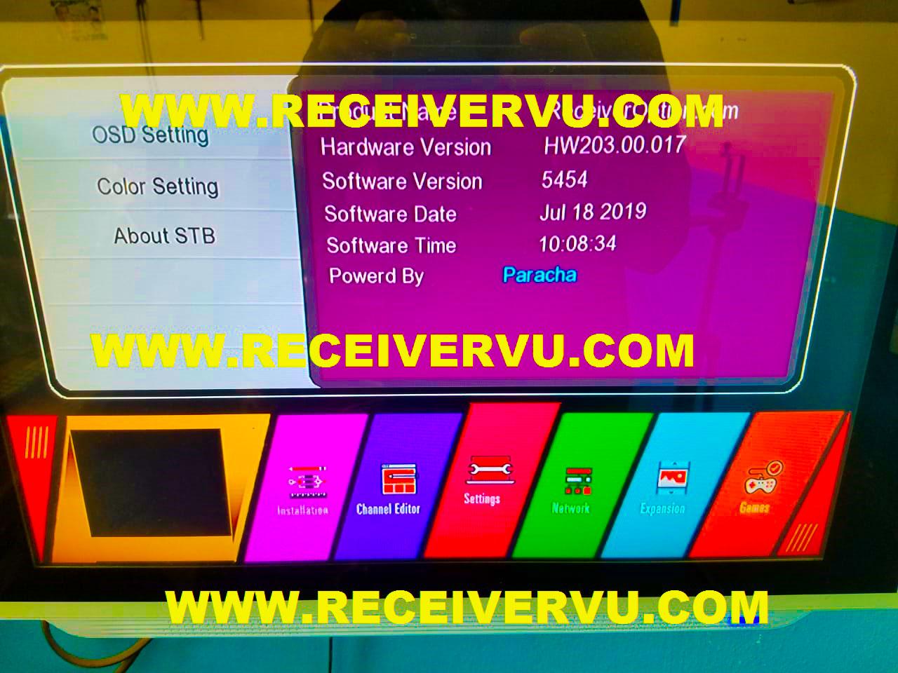 GX6605S HW203 00 017 TEN SPORTS OK & CCCAM ACTIVE NEW MENU SOFTWARE