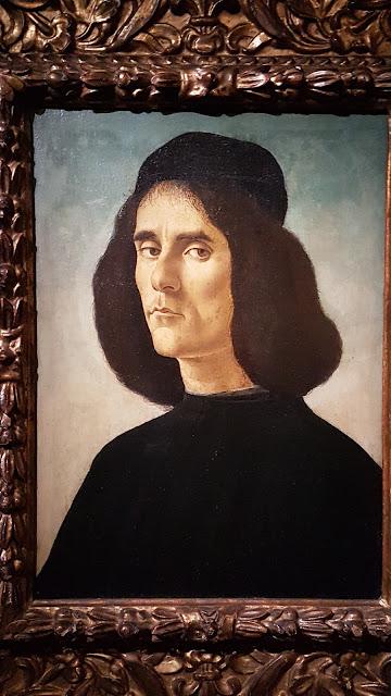 Portrait de Michele Marullo Tarcaniota Botticelli 1500 Collection Guardans-Cambo