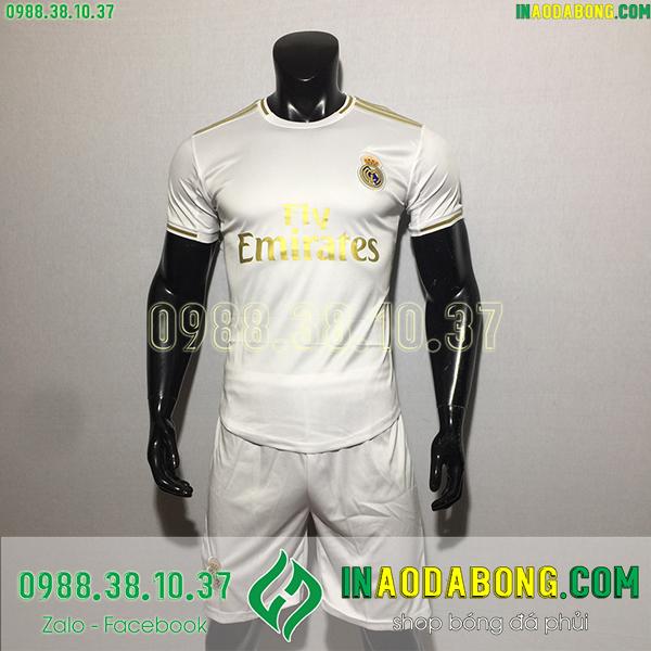 Áo bóng đá câu lạc bộ Real  2020 màu trắng