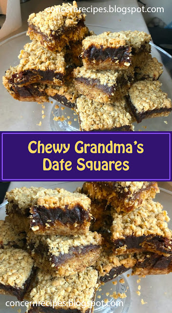 Chewy Grandma's Date Squares