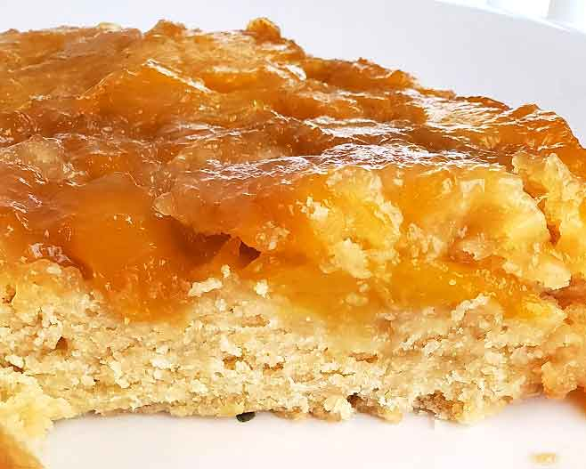 this is mango upside down cake