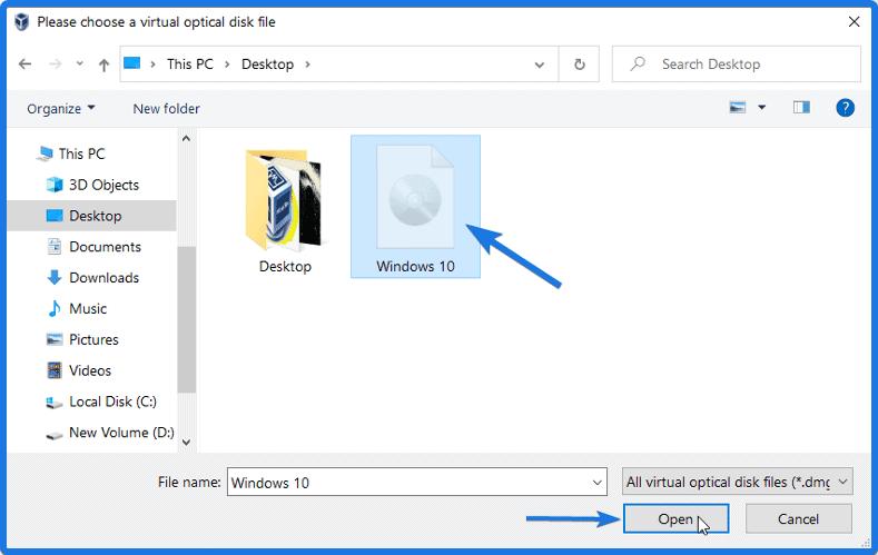 Windows 10 ISO image file