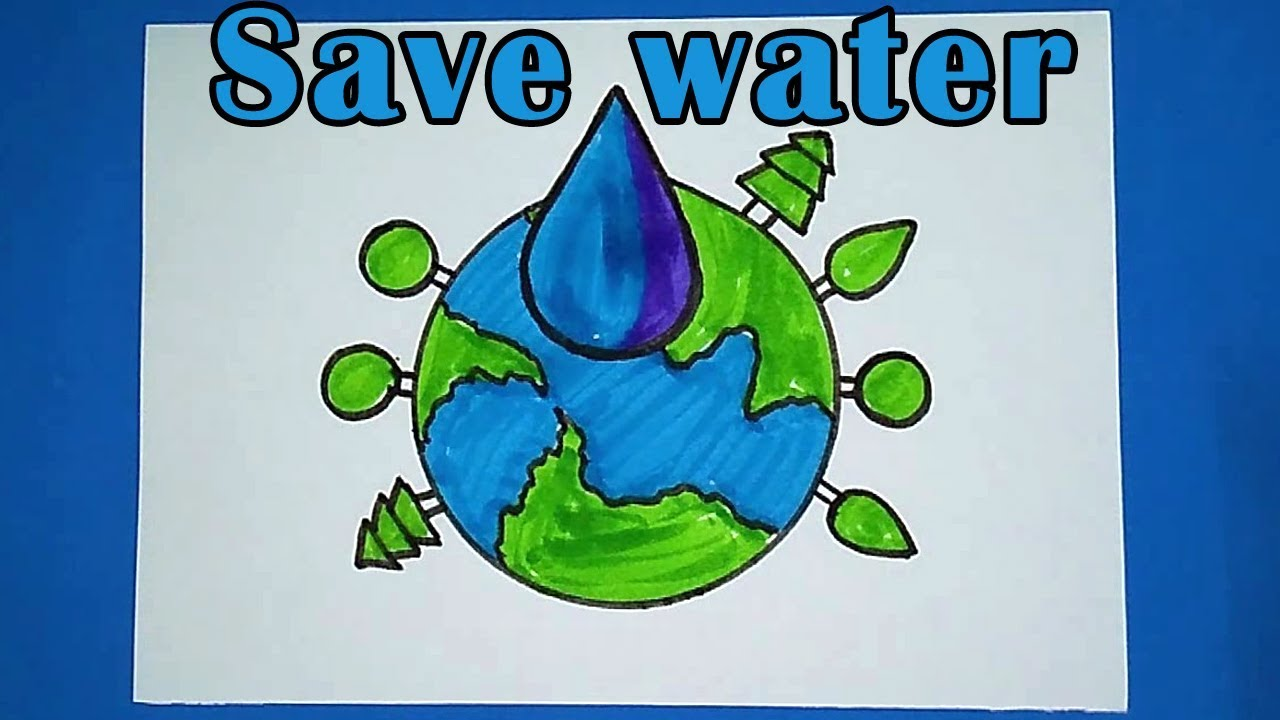 Best Save Water Drawing Images For Drawing Competition