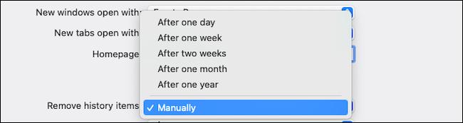قم بإزالة محفوظات الاستعراض تلقائيًا على Safari macOS