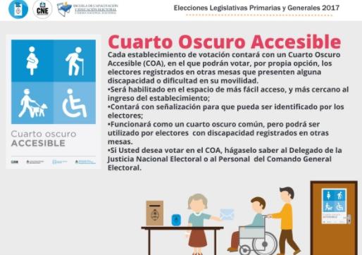 Personas con discapacidad elecciones2017 Numero telefonico del ministerio del interior