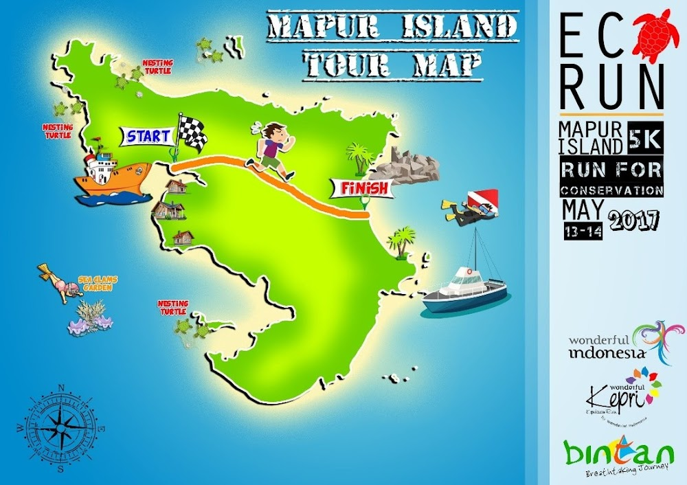 Eco Run Mapur Island • Map