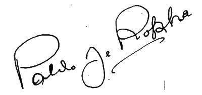 Firma de Pablo de Rokha, poeta chileno