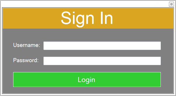 vb.net hotel management system - login form