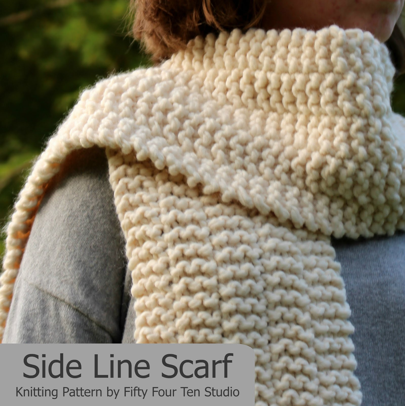 Side Line Scarf - FREE Pattern