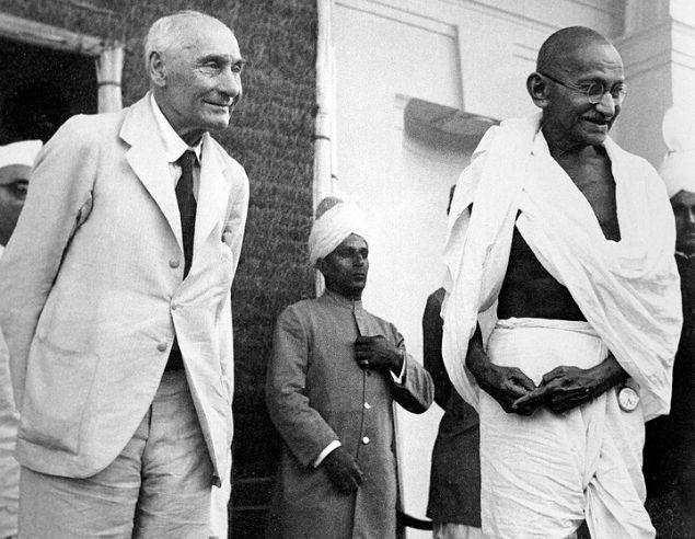 Mahatma Gandhi with Pethic-Lawrence