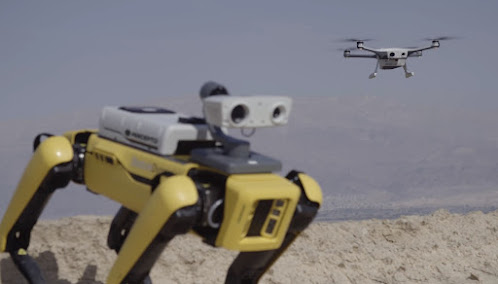 Spot Robot and Sparrow Drone
