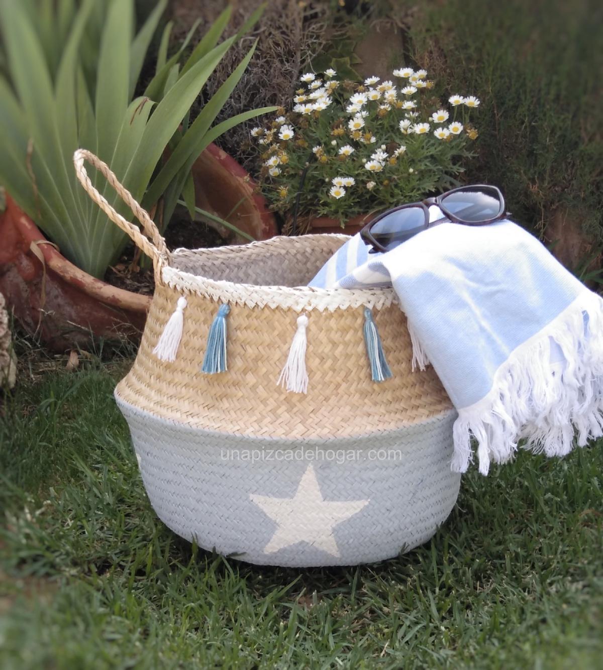 Cómo pintar una cesta, cesto o capazo de mimbre DIY