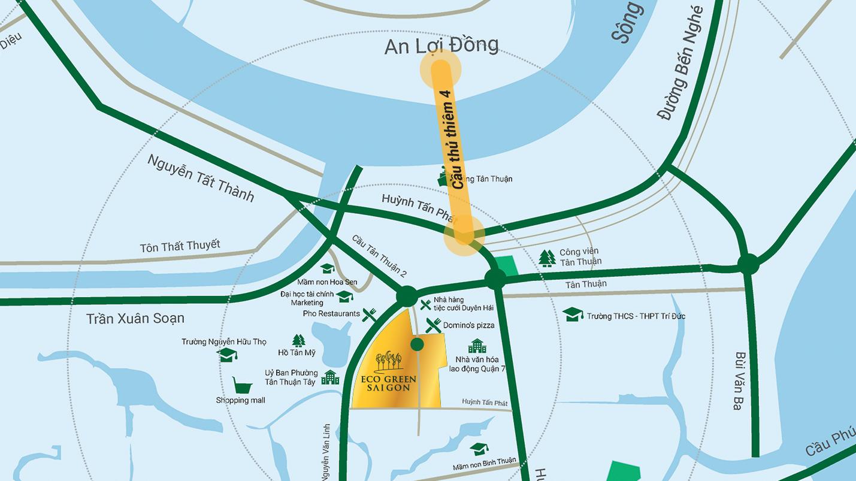 Vị trí dự án Eco Green Sài Gòn quận 7
