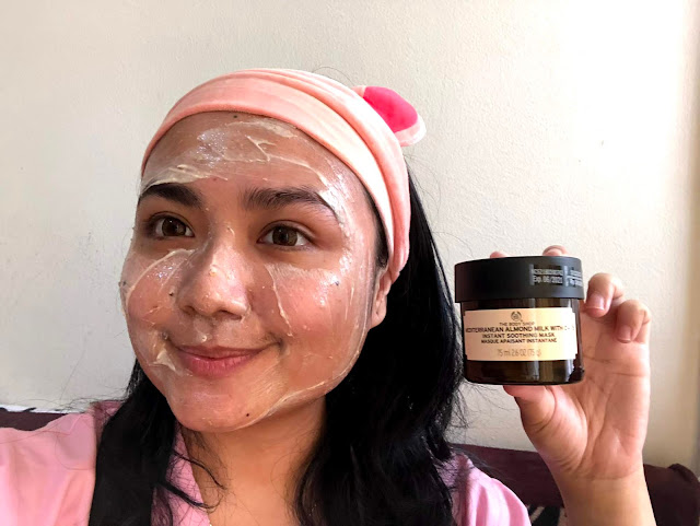 MEDITERRANEAN ALMOND MILK WITH OATS SOOTHING MASK THE BODY SHOP