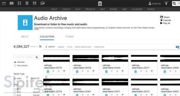 Internet Archive's Audio Liblary