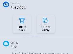 Cara Agar Di Aplikasi Gojek Driver Bisa Tarik Ke GoPay CS