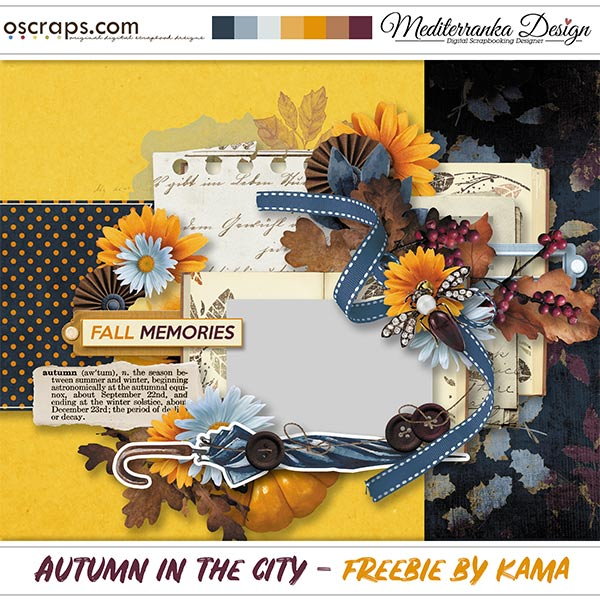 AUTUMN IN THE CITY + CHANCE TO WIN + FREE QUICK PAGE BY KAMA