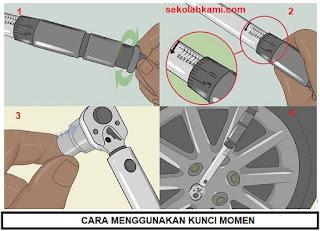cara menggunakan kunci momen