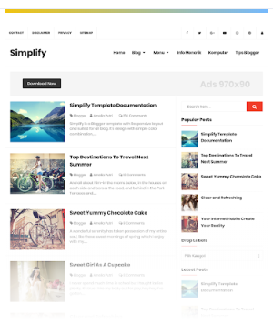 Simplify Free template blogger