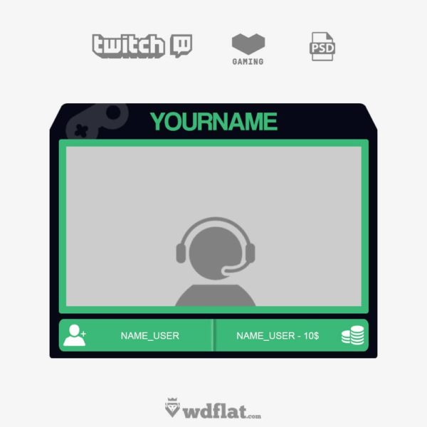 70 Free Webcam Overlay Templates Graphic Design Resources