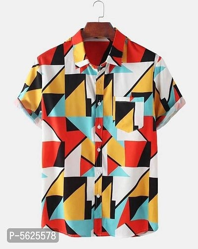 Cotton Printed Short Sleeves Shirt For Men | Shirts For Men Online Shopping |