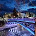 Τα Τρίκαλα φωταγωγημένα με το μπλε της Ελλάδας