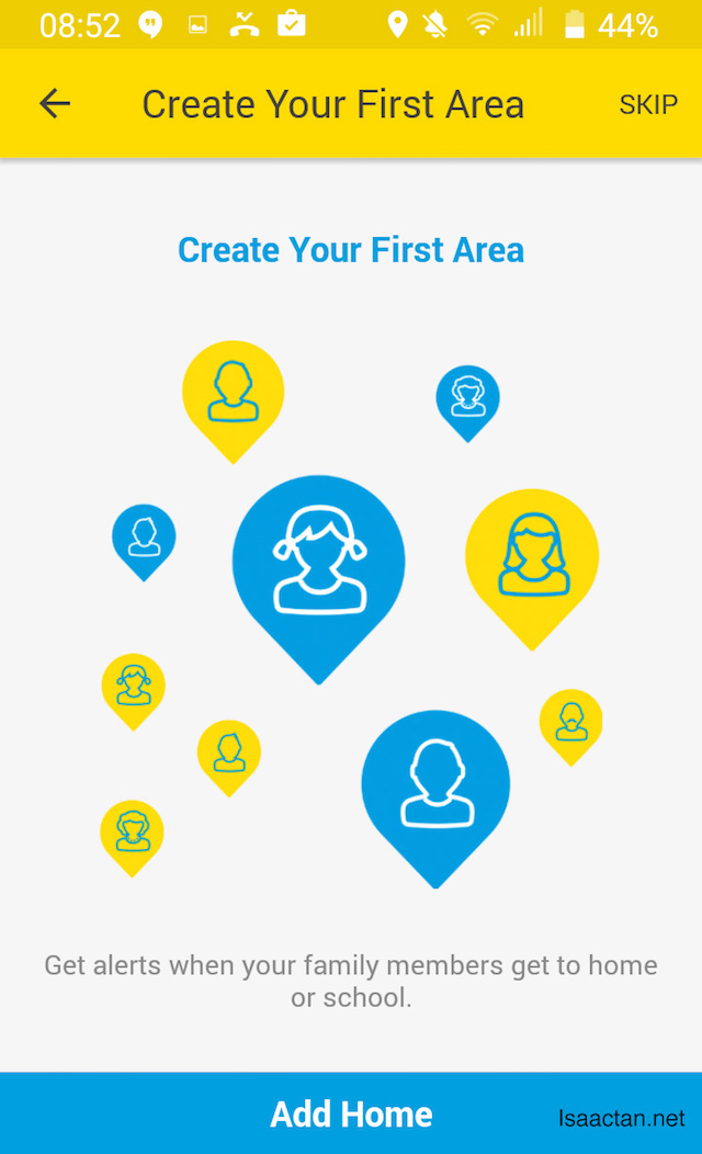 Create your first area.
