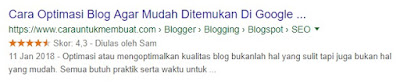 Blogger Rich Snippets Star Rating