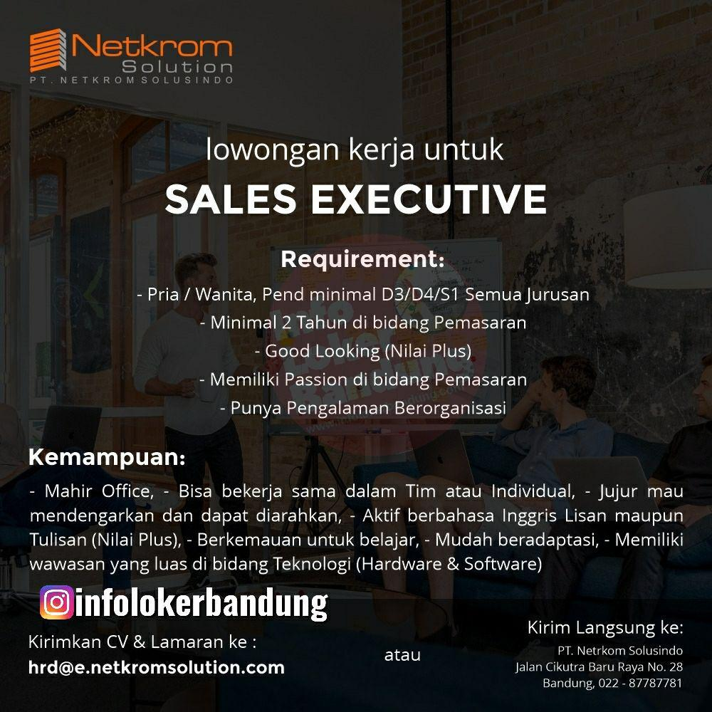 Lowongan Krje PT. Netkrom Solusindo Bandung Juni 2019