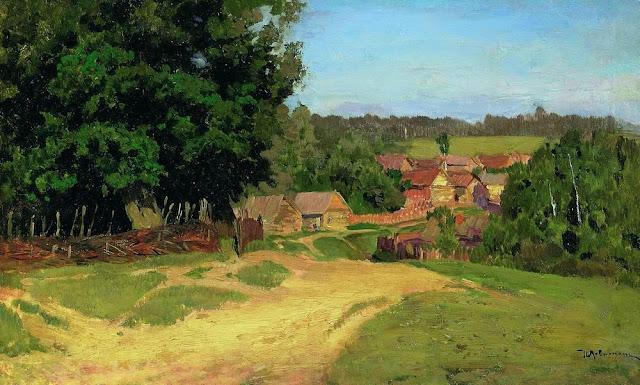 Исаак Ильич Левитан - Деревенька. 1880-е