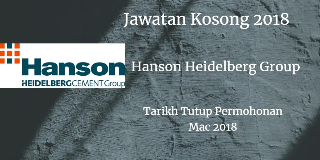 Jawatan Kosong Hanson Heidelberg Group Mac 2018
