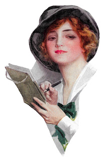 harrison fisher illustration image woman writing