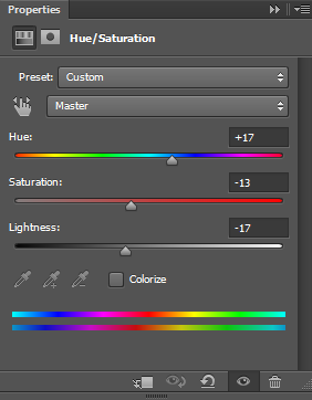 Hue-and-saturation-settings-for-abstract-background-in-Photoshop