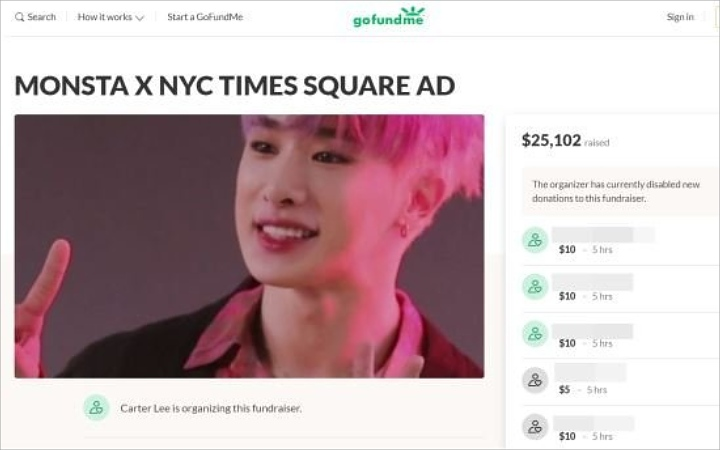 Wonho Fans Being Called Embarrassing Korea After Raise Funds For Advertisements in New York Times Square