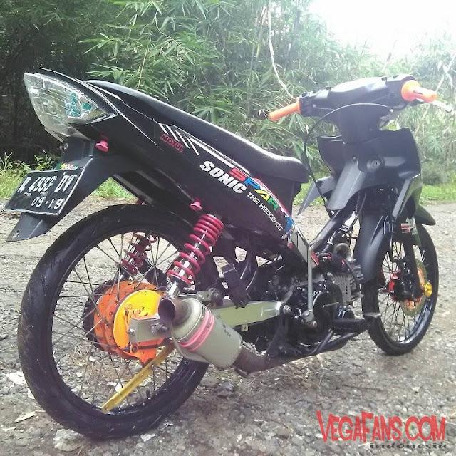 Vega RR Hitam Modif Motor Racing