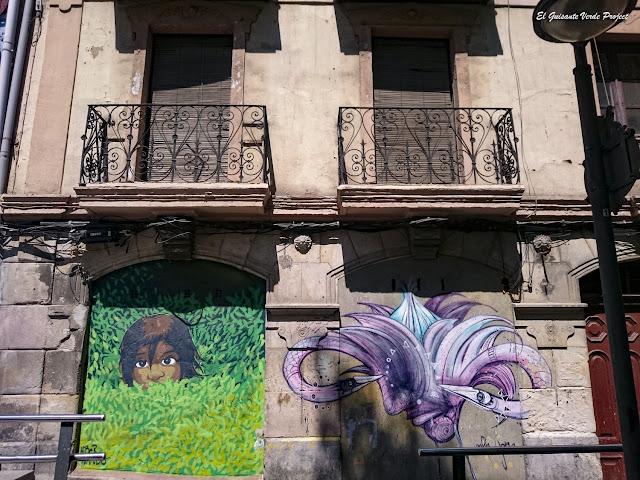 Mural de Hibernando en Bilbao la Vieja, por El Guisante Verde Project