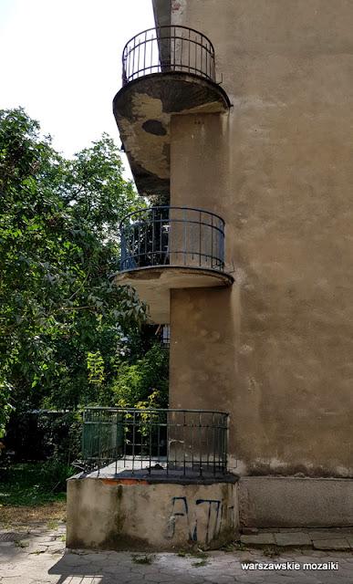 balkon Warszawa Warsaw Saska Kępa Praga Południe ulice Saskiej Kępy modernizm funkcjonalizm architektura