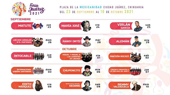 Feria Juárez 2021Programa NUEVAS FECHAS