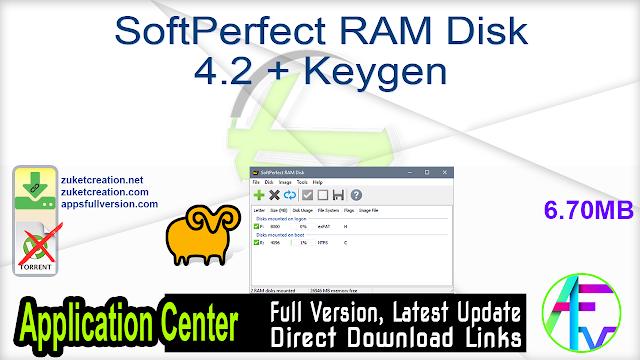 SoftPerfect RAM Disk 4.2 + Keygen