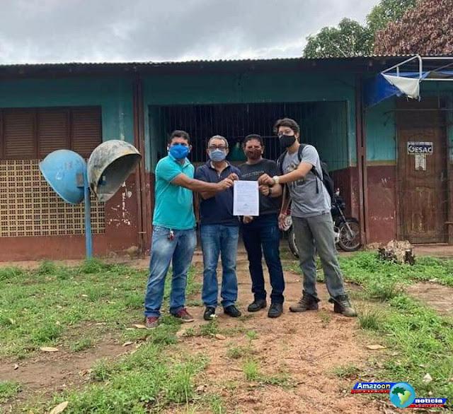 Prefeito Chico Alfaia assina ordem de serviços para reforma e ampliação da Escola Felipe Patroni em Óbidos.
